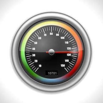 Compteur de vitesse brillant isolé