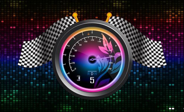 Compteur de vitesse de voiture de course