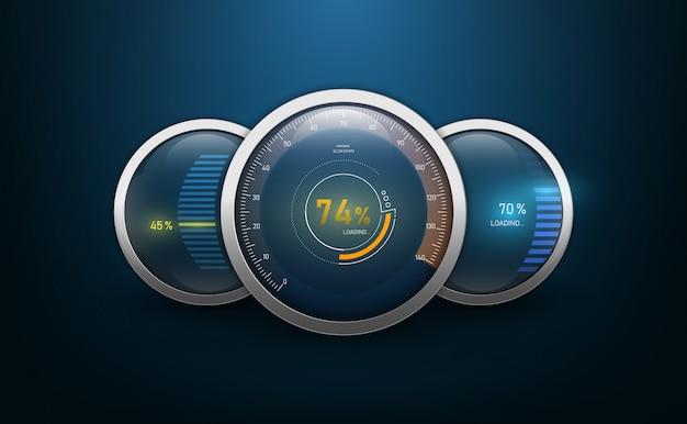 Compteurs de vitesse pour tableau de bord.