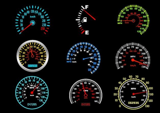 Compteurs de vitesse de voiture
