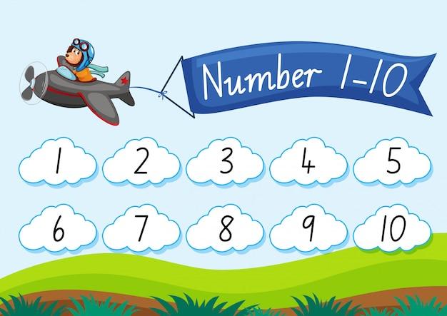 Comptez le nombre jusqu'à dix