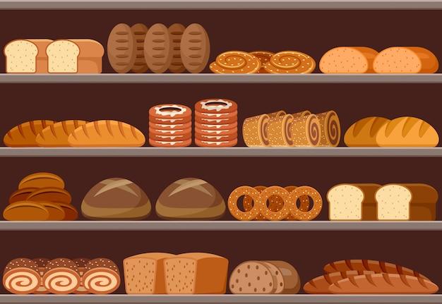 Comptoir avec du pain