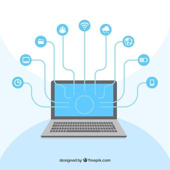Computer réseautage social