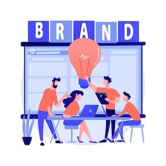 Concept abstrait atelier de marque