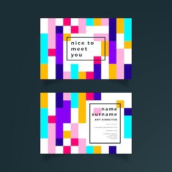 Concept abstrait de carte de visite colorée