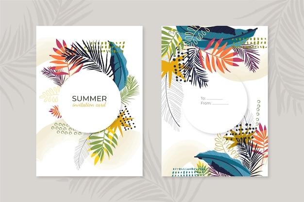 Concept abstrait de cartes tropicales