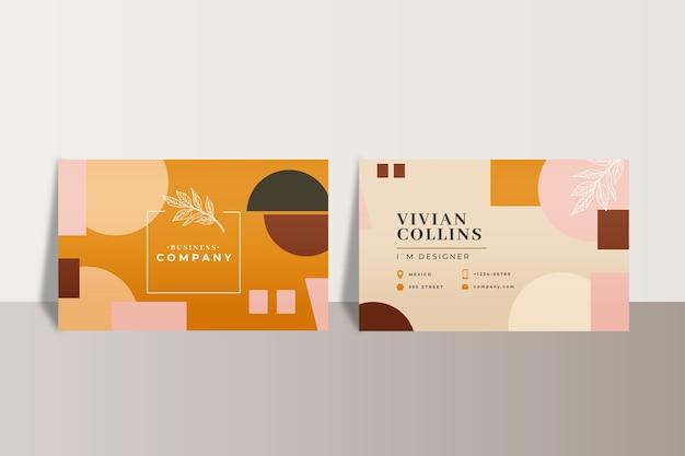Concept abstrait de cartes de visite