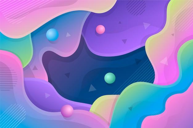 Concept abstrait coloré