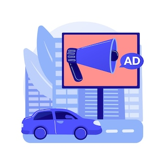 Concept abstrait de conception de publicité extérieure