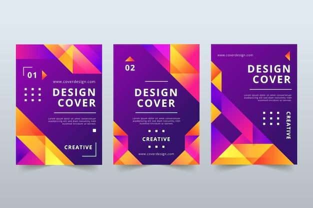 Concept abstrait de couvertures colorées
