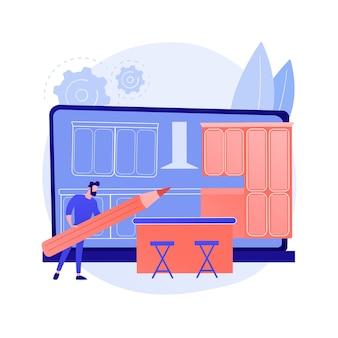 Concept abstrait de cuisines sur mesure