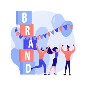 Concept abstrait de l'événement de marque