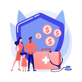 Concept abstrait de fonds de soutien d'urgence