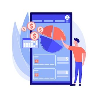 Concept abstrait de gestion des dépenses mobiles