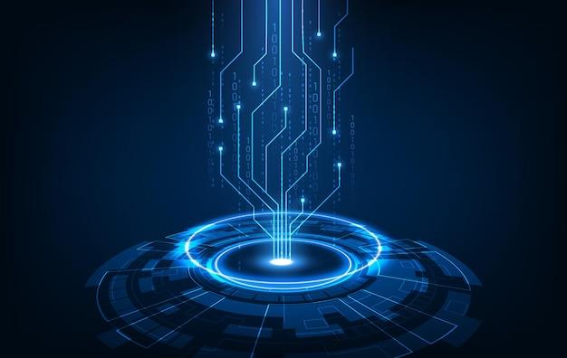 Concept abstrait d'innovation technologique de la cyber-ville