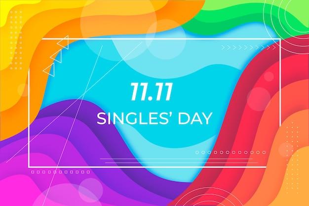 Concept abstrait de la journée des célibataires