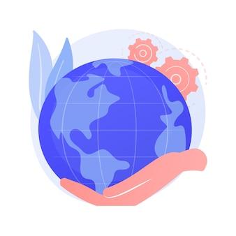 Concept abstrait de la journée de la terre