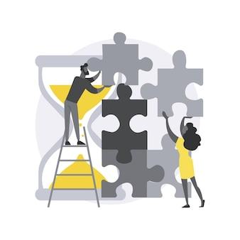 Concept abstrait de livraison de projet
