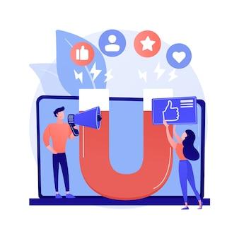 Concept abstrait de marketing d'engagement