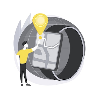 Concept abstrait de navigation smartwatch