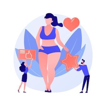 Concept abstrait positif du corps