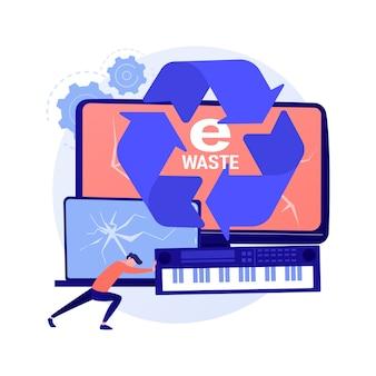 Concept abstrait de réduction des déchets électroniques