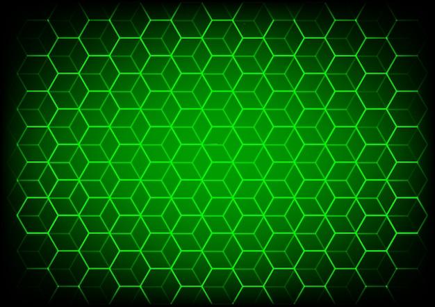 Concept abstrait de science et technologie avec fond d'éléments hexagonaux