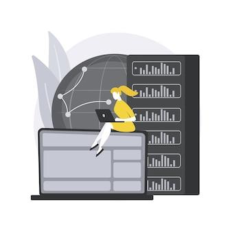 Concept abstrait de serveur proxy