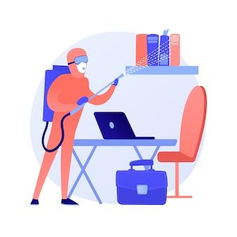 Concept abstrait de service de désinfection de bureau