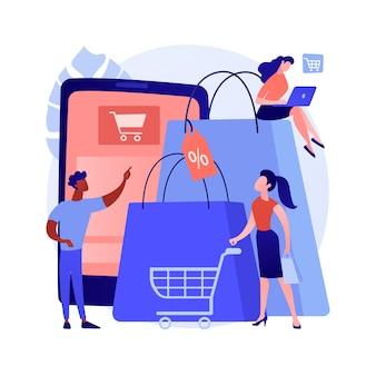 Concept abstrait de la société de consommation