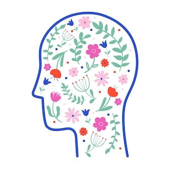 Concept abstrait de traitement de dépression médicale de psychothérapie de santé mentale