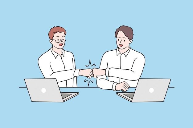 Concept d'accord de coopération de succès