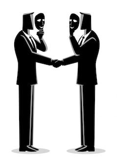 Concept d'accord hypocrite