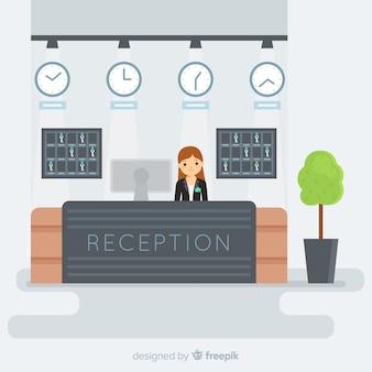 Concept d'accueil en design plat