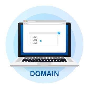 Concept d'achat de domaines web