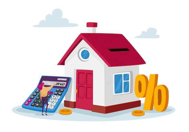 Concept d'achat d'hypothèques et de maison