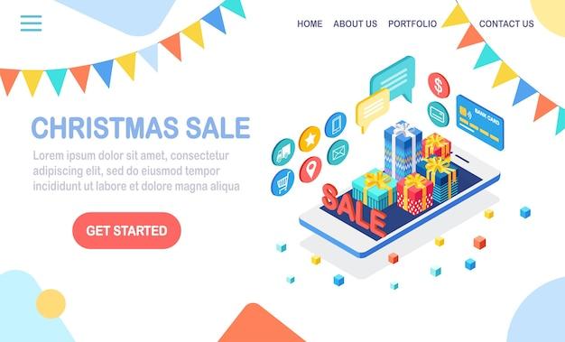 Concept d'achat en ligne pour la page de destination