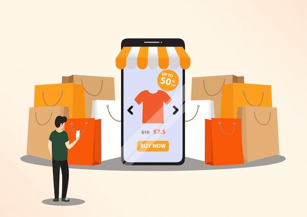Concept d'achat en ligne