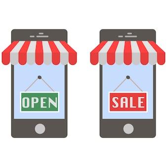 Concept d'achat mobile