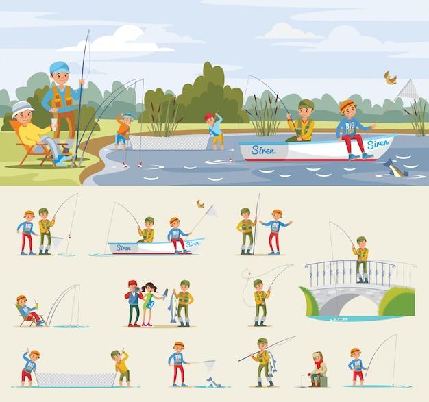 Concept d'activité de pêche