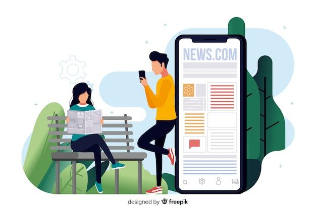 Concept d'actualité pour la page de destination