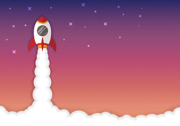 Concept d'affaires de fusée