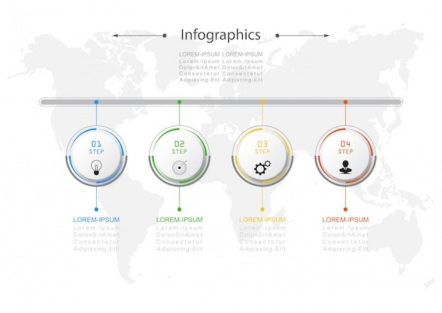 Concept d'affaires infographie conception vecteur
