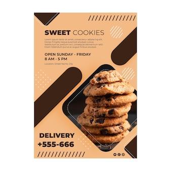 Concept d'affiche de biscuits sucrés