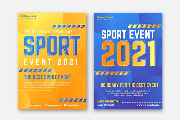 Concept d'affiche d'événement sportif 2021