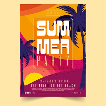 Concept d'affiche de fête d'été