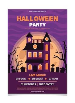 Concept d'affiche fête festival halloween