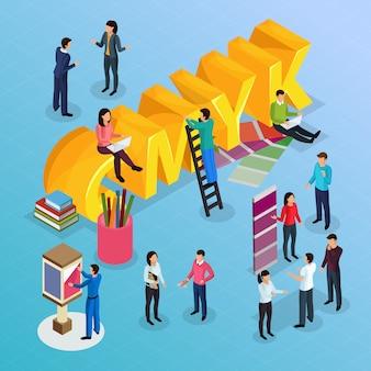 Concept d'agence de publicité avec un travail publicitaire créatif