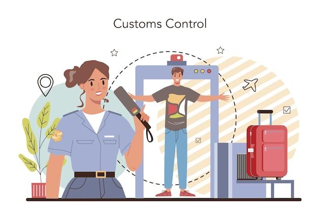 Concept d'agent des douanes