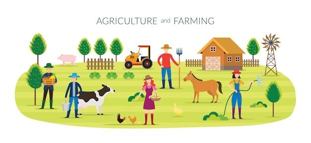 Concept d'agriculteur, d'agriculture et d'agriculture